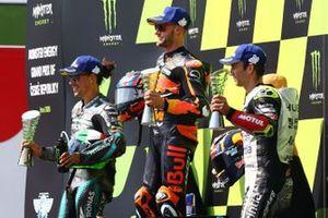 Podium: race winner Brad Binder, Red Bull KTM Factory Racing, second place Franco Morbidelli, Petronas Yamaha SRT, third place Johann Zarco, Avintia Racing