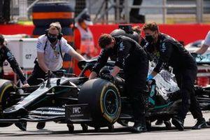 The car of Valtteri Bottas, Mercedes AMG F1 W11 on the grid