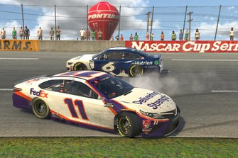 Denny Hamlin, Joe Gibbs Racing, Ross Chastain, Roush Fenway Racing