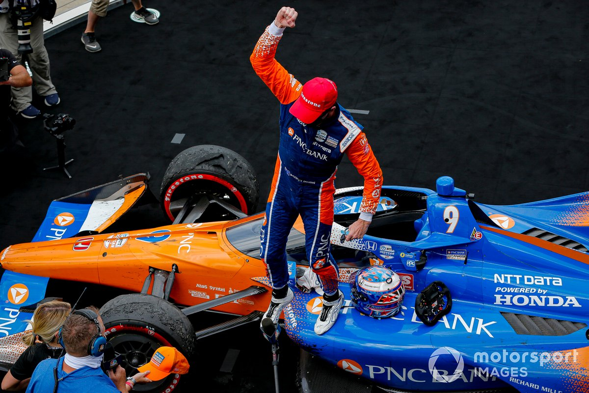 Scott Dixon, Chip Ganassi Racing Honda celebra