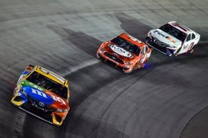 Kyle Busch, Joe Gibbs Racing, Toyota Camry M&M's, Kevin Harvick, Stewart-Haas Racing, Ford Mustang Busch Light Apple, Denny Hamlin, Joe Gibbs Racing, Toyota Camry FedEx Ground