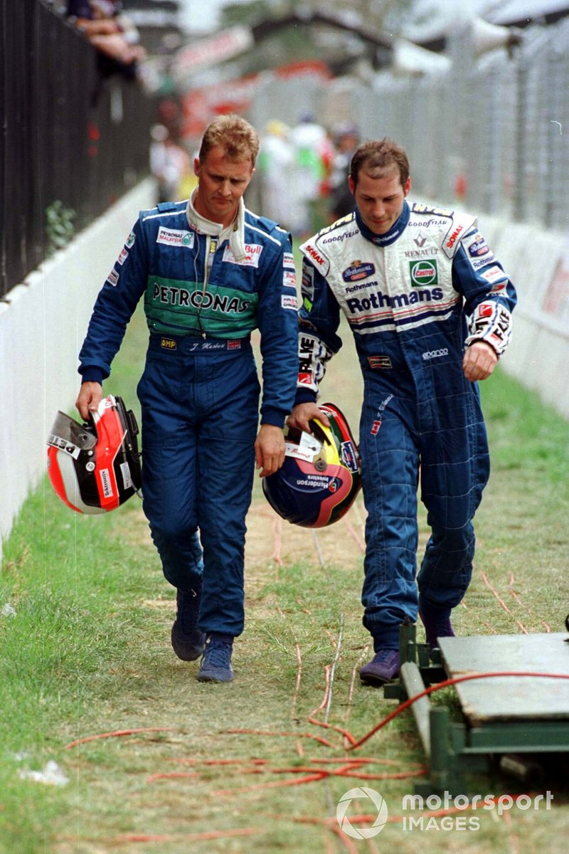 Johnny Herbert, Sauber y Jacques Villeneuve, Williams regresan caminando