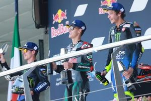 Maverick Vinales, Yamaha Factory Racing, Fabio Quartararo, Petronas Yamaha SRT,Valentino Rossi, Yamaha Factory Racing