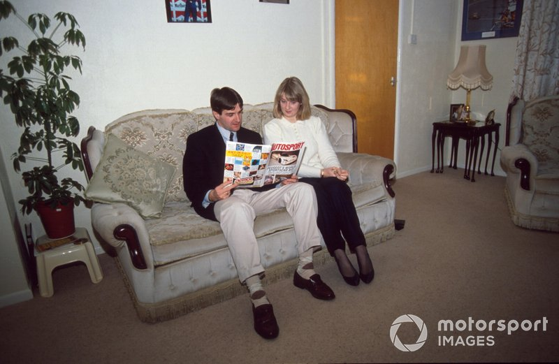 Martin Donnelly with his wife