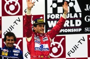 1, Ayrton Senna, McLaren, 2. Alain Prost, Williams
