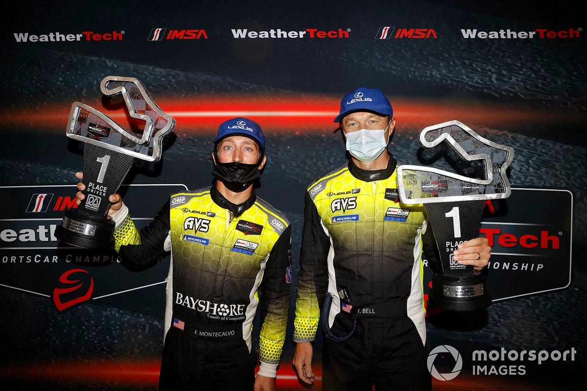 GTD ganadores #14 AIM Vasser Sullivan Lexus RC F GT3: Jack Hawksworth, Aaron Telitz