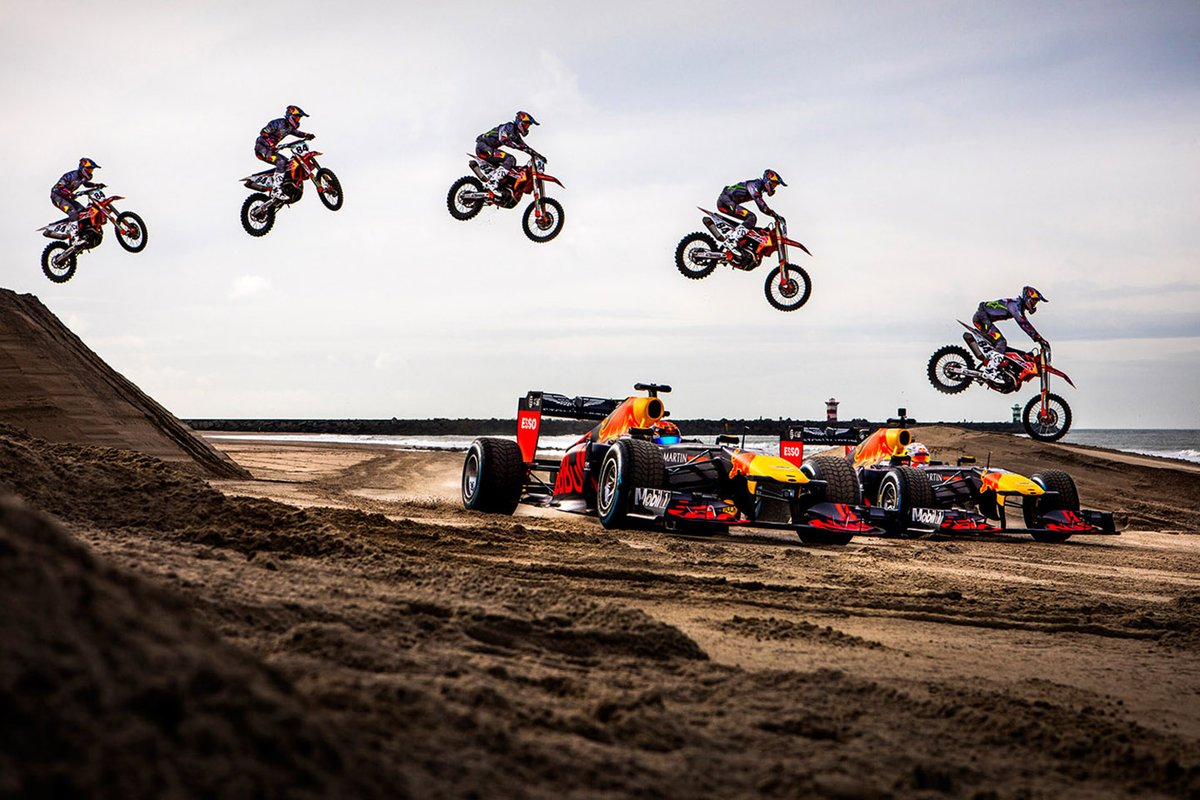 Max Verstappen, Alexander Albon, Red Bull Racing and Jeffrey Herlings