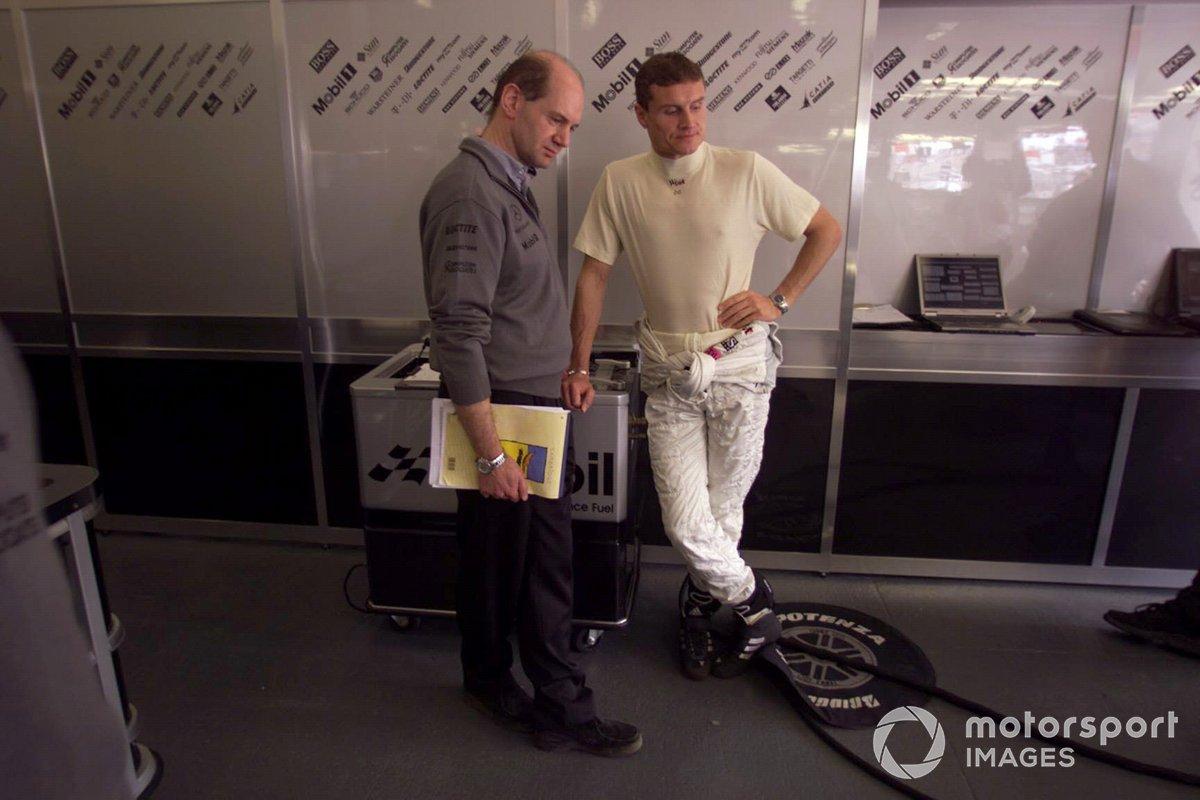 David Coulthard, McLaren and Adrian Newey