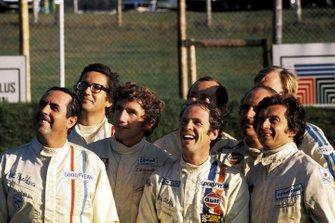 Jack Brabham, Brabham; Andrea de Adamich, McLaren; Rolf Stommelen, Brabham; Peter Gethin, McLaren; Denny Hulme, McLaren; Jean Pierre Beltoise, Matra Simca