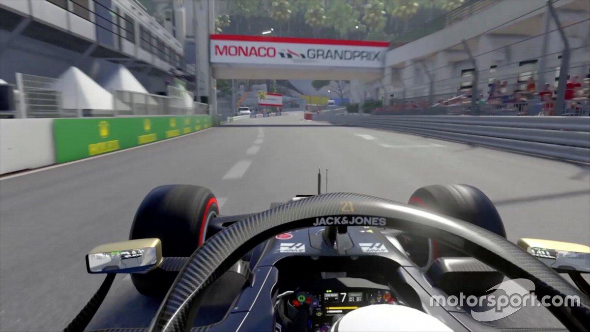 F1 2019 durante una vuelta al revés en Mónaco