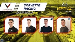 Line-up #63 Corvette Racing