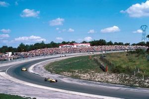 René Arnoux and Alain Prost, Renault RE30B lead the field