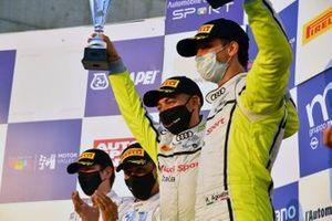 Podio: i vincitori della gara Riccardo Agostini, Daniel Mancinelli, Audi Sport Italia, AUDI R8 LMS, secondo posto Stefano Comandini, Marius Zug, BMW M6 GT3, BMW Team Italia