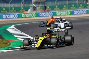 Esteban Ocon, Renault F1 Team R.S.20, Daniil Kvyat, AlphaTauri AT01, and Carlos Sainz Jr., McLaren MCL35
