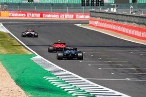 Antonio Giovinazzi, Alfa Romeo Racing C39, Charles Leclerc, Ferrari SF1000, and Lewis Hamilton, Mercedes F1 W11