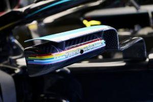 Le logo #WeRaceAsOne sur la voiture de Lewis Hamilton, Mercedes F1 W11