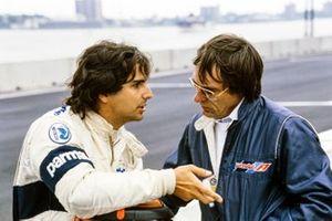 Nelson Piquet, Brabham, mit Bernie Ecclestone