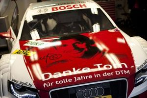 The car of Tom Kristensen, Audi Sport Team Abt Audi A4 DTM, with one off livery