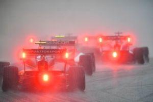 Auto's in de regen