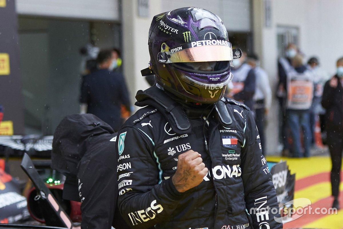 Lewis Hamilton, Mercedes-AMG Petronas F1 celebrates in Parc Ferme
