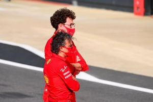Mattia Binotto, Team Principal Ferrari, and Laurent Mekies, Sporting Director, Ferrari