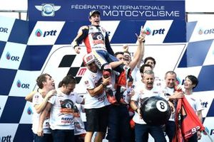 World Champion Marc Marquez, Repsol Honda Team celebrates with his team