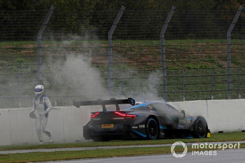 Daniel Juncadella, R-Motorsport, Aston Martin Vantage AMR stops on track