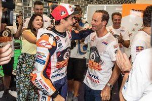 MotoGP-Weltmeister 2019: Marc Marquez, Repsol Honda Team, mit Alberto Puig