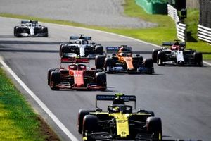 Nico Hulkenberg, Renault F1 Team R.S. 19, Charles Leclerc, Ferrari SF90, Carlos Sainz Jr., McLaren MCL34, Kimi Raikkonen, Alfa Romeo Racing C38, Lewis Hamilton, Mercedes AMG F1 W10, Valtteri Bottas, Mercedes AMG W10