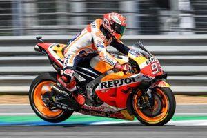 Marc Marquez, Repsol Honda Team, frena