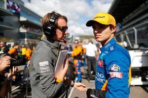 Lando Norris, McLaren, op de grid