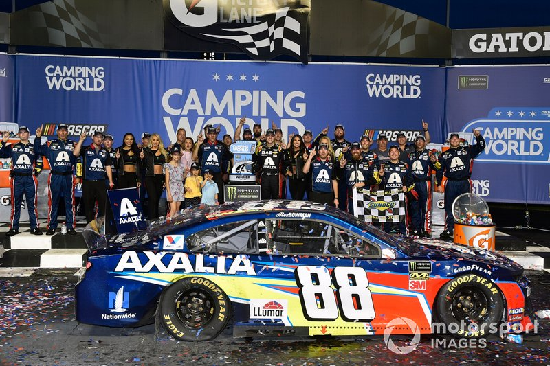 1. Alex Bowman, Hendrick Motorsports, Chevrolet Camaro Axalta