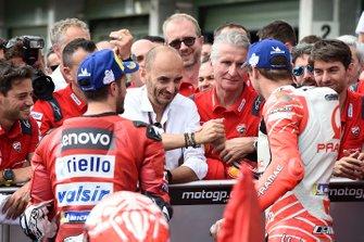 2. Andrea Dovizioso, Ducati Team, 3. Jack Miller, Pramac Racing