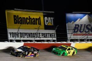 Brad Keselowski, Team Penske, Ford Mustang Miller Lite, William Byron, Hendrick Motorsports, Chevrolet Camaro Hendrick Autoguard/City Chevrolet Throwback
