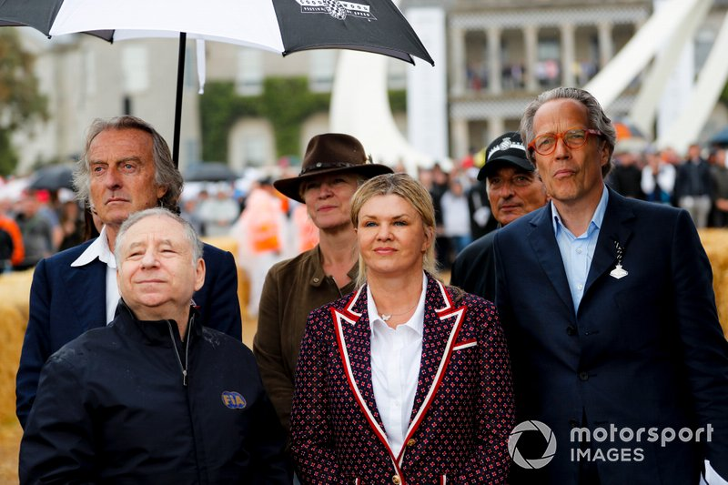 Luca Cordero di Montezemolo, Jean Todt, Corinna Schumacher andx Lord March at the Michael Schumacher Celebration