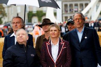 Luca Cordero di Montezemolo, Jean Todt, Corinna Schumacher y Lord March en la Celebración de Michael Schumacher