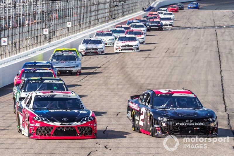 Christopher Bell, Joe Gibbs Racing, Toyota Supra Rheem-Watts, Tyler Reddick, Richard Childress Racing, Chevrolet Camaro Gimme Radio / Megedeth