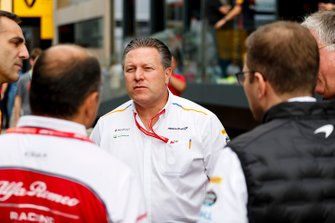 Cyril Abiteboul, Managing Director, Renault F1 Team, Frederic Vasseur, Team Principal, Alfa Romeo Racing, Zak Brown, Executive Director, McLaren and Andreas Seidl, Team Principal, McLaren