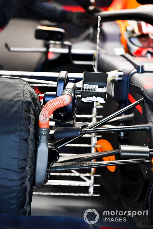 Cooling device fitted to the car of Max Verstappen, Red Bull Racing RB15