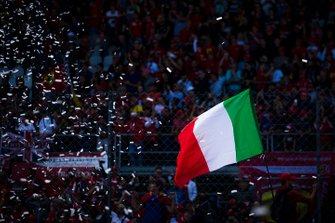 Fans celebrate a home win for Ferrari