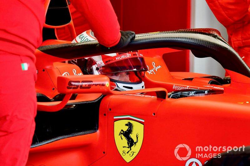 Charles Leclerc, Ferrari, nell'abitacolo della sua monoposto