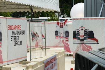 Preparations at the Singapore Marina Bay Street Circuit
