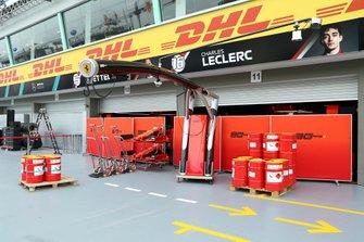 The Ferrari pit garage