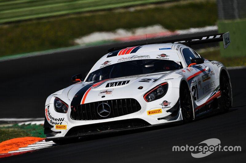 #21 Mercedes AMG GT3, Antonelli Motorsport, Linossi-Colombo