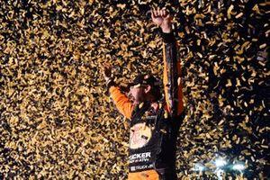 Martin Truex Jr., Joe Gibbs Racing, Toyota Camry Bass Pro Shops celebrates his win