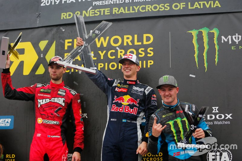 Подиум: победитель Тимми Хансен, Team Hansen MJP, второе место – Никлас Гронхольм, GRX Taneco Team, третье место – Андреас Баккеруд, Monster Energy RX Cartel