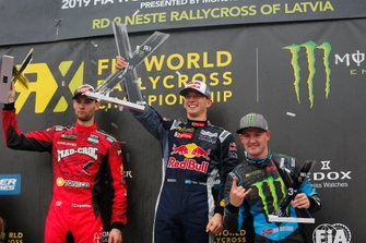 Podium: Winner Timmy Hansen, Team Hansen MJP, second place Niclas Grönholm, GRX Taneco, third place Andreas Bakkerud, Monster Energy RX Cartel