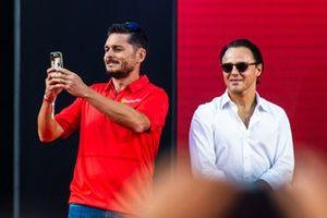 Giancarlo Fisichella and Felipe Massa