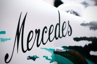 Decoración especial del Mercedes AMG F1 W10