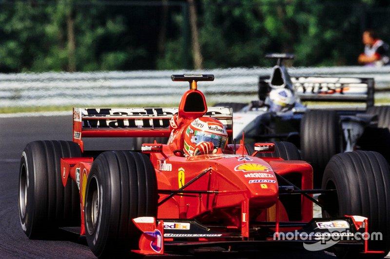 Eddie Irvine, Ferrari et David Coulthard, McLaren